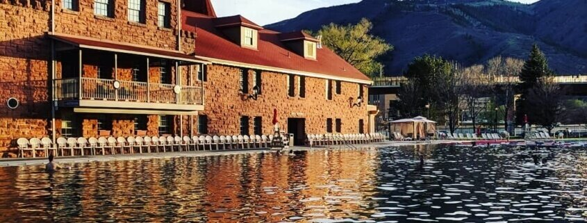 glenwood hot springs evening light