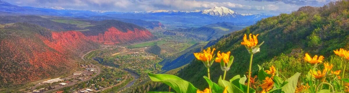 View of Mount Sopris from Red Mountain above Glenwood Springs