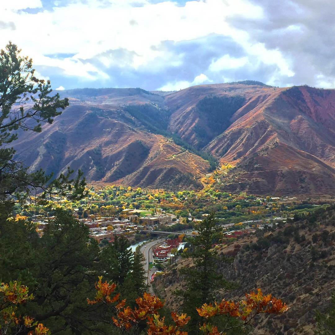 View of Glenwood Springs from Boy Scout Trail